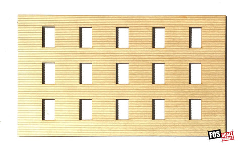 CLAPBOARD WALL SECTION - C104 HO SCALE
