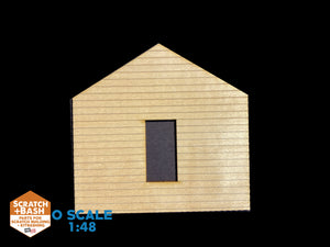 CLAPBOARD WALL SECTION - O SCALE CX104