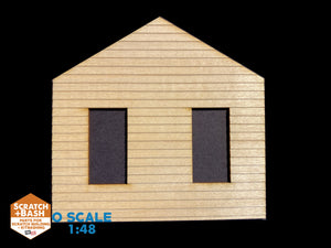 CLAPBOARD WALL SECTION - O SCALE CX105