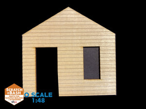 CLAPBOARD WALL SECTION - O SCALE CX106