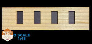 CLAPBOARD WALL SECTION - O SCALE CX107