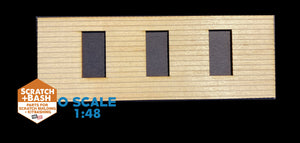 CLAPBOARD WALL SECTION - O SCALE CX108