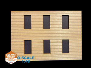 CLAPBOARD WALL SECTION - O SCALE CX109