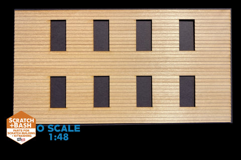 CLAPBOARD WALL SECTION - O SCALE CX110
