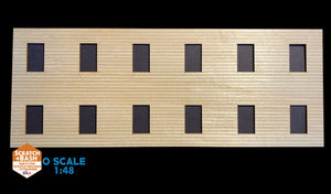 CLAPBOARD WALL SECTION - O SCALE DX102