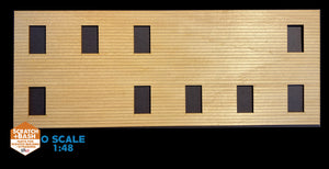 CLAPBOARD WALL SECTION - O SCALE DX103