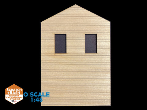 CLAPBOARD WALL SECTION - O SCALE DX104