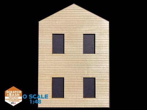 CLAPBOARD WALL SECTION - O SCALE DX105