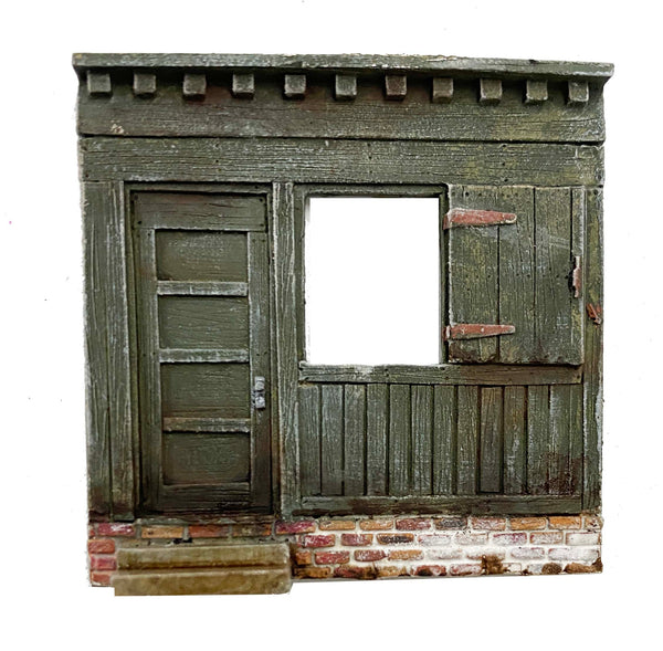 Wall Section w/ Steps & Brick - Metal Detail Part HO Scale