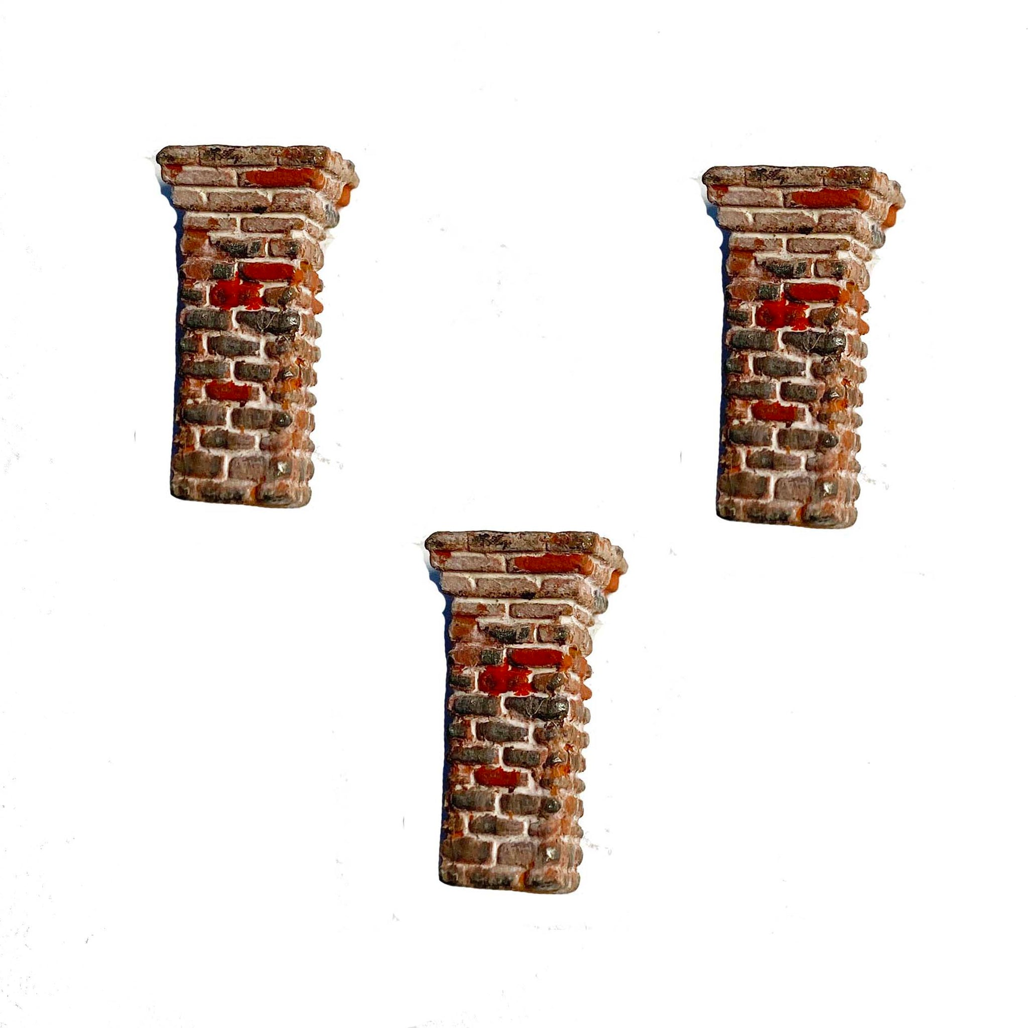 "Brick Chimney 'C""  (3) - Metal Detail Part HO Scale"