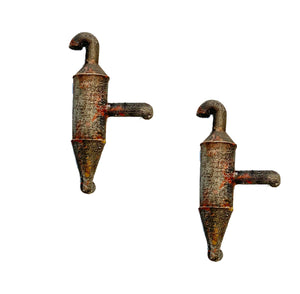 Dust Collector / Wall Mounted Set of 2   - Metal Detail Part HO Scale