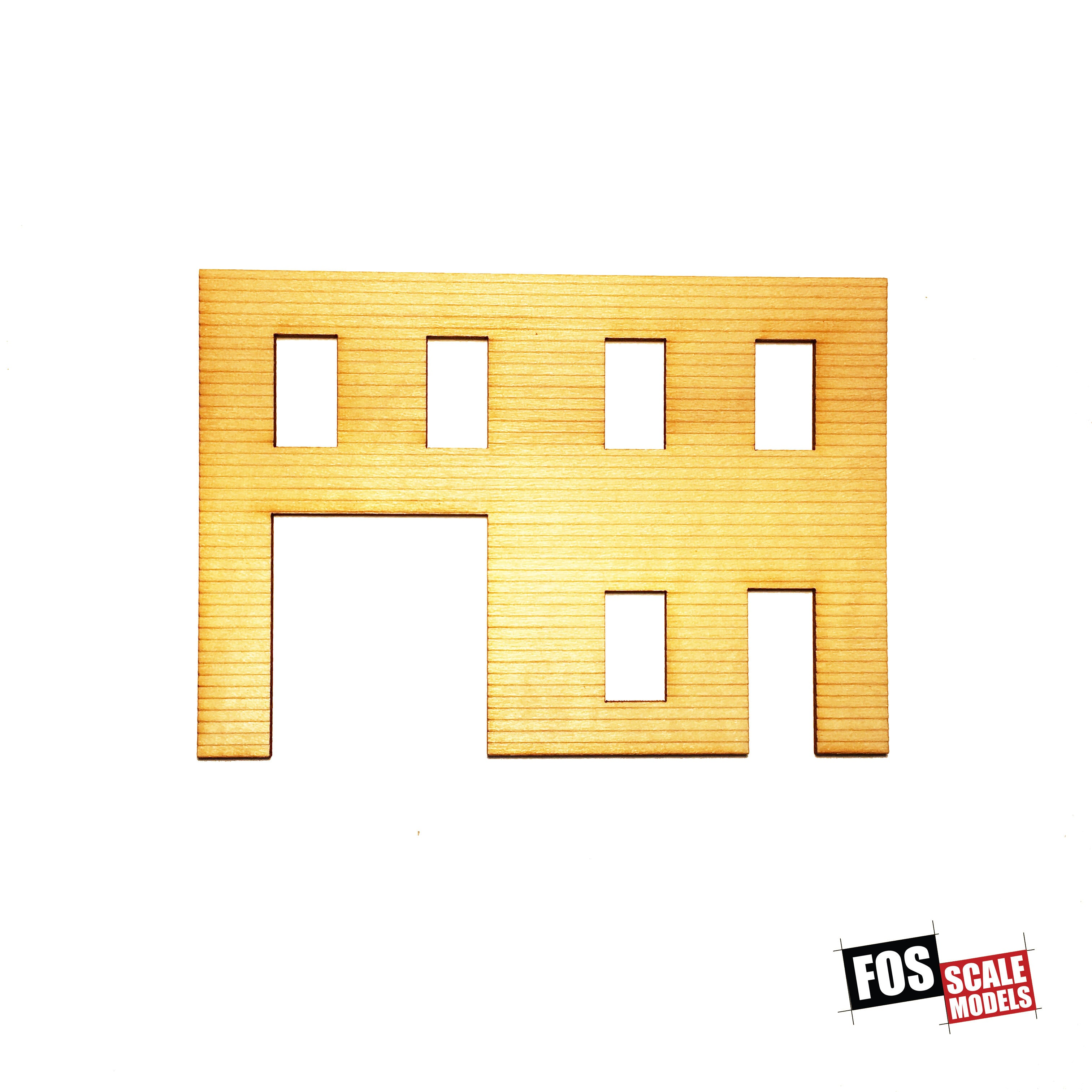 CLAPBOARD WALL SECTION - A 109 HO SCALE