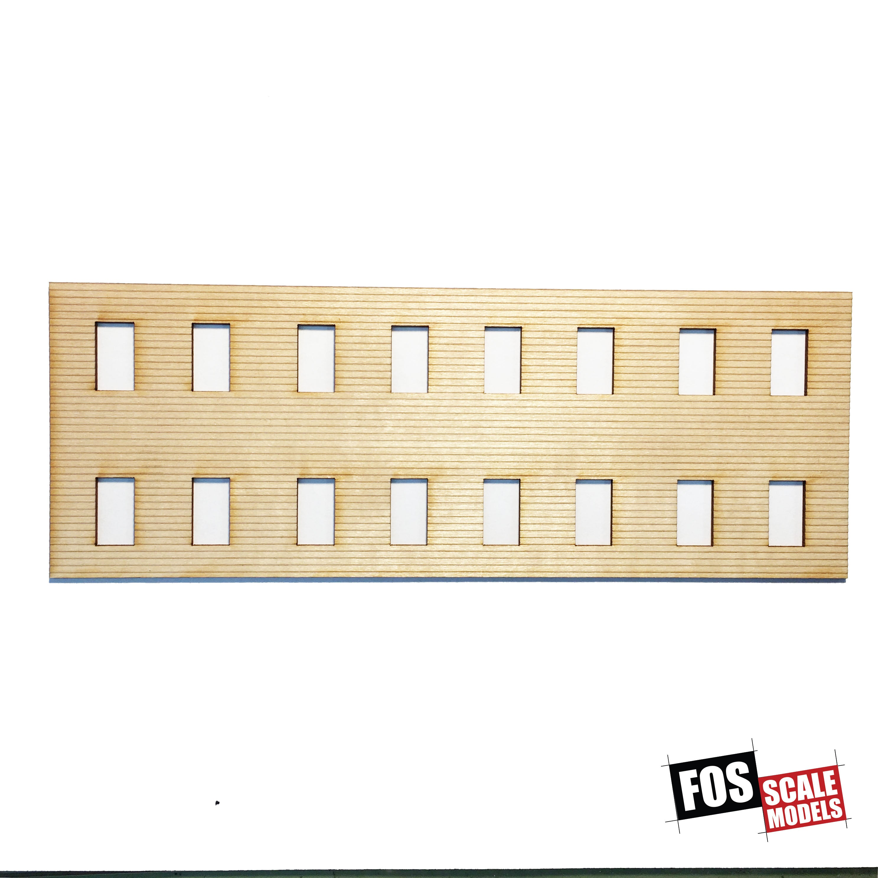 CLAPBOARD WALL SECTION - A 110 HO SCALE