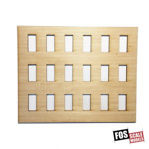 CLAPBOARD WALL SECTION - B 204 HO SCALE