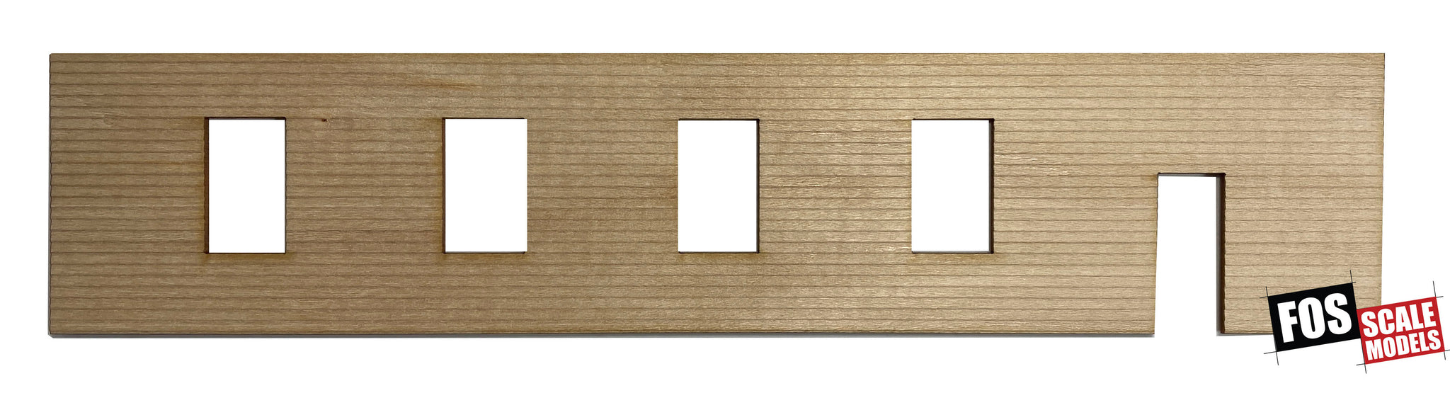 CLAPBOARD WALL SECTION - D107 HO SCALE