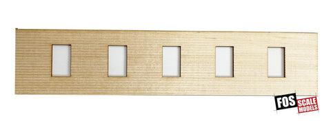 CLAPBOARD WALL SECTION - D106 HO SCALE