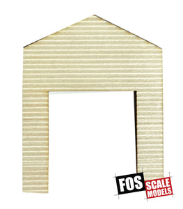 CLAPBOARD WALL SECTION - D101 HO SCALE
