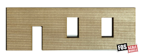 CLAPBOARD WALL SECTION - D104 HO SCALE