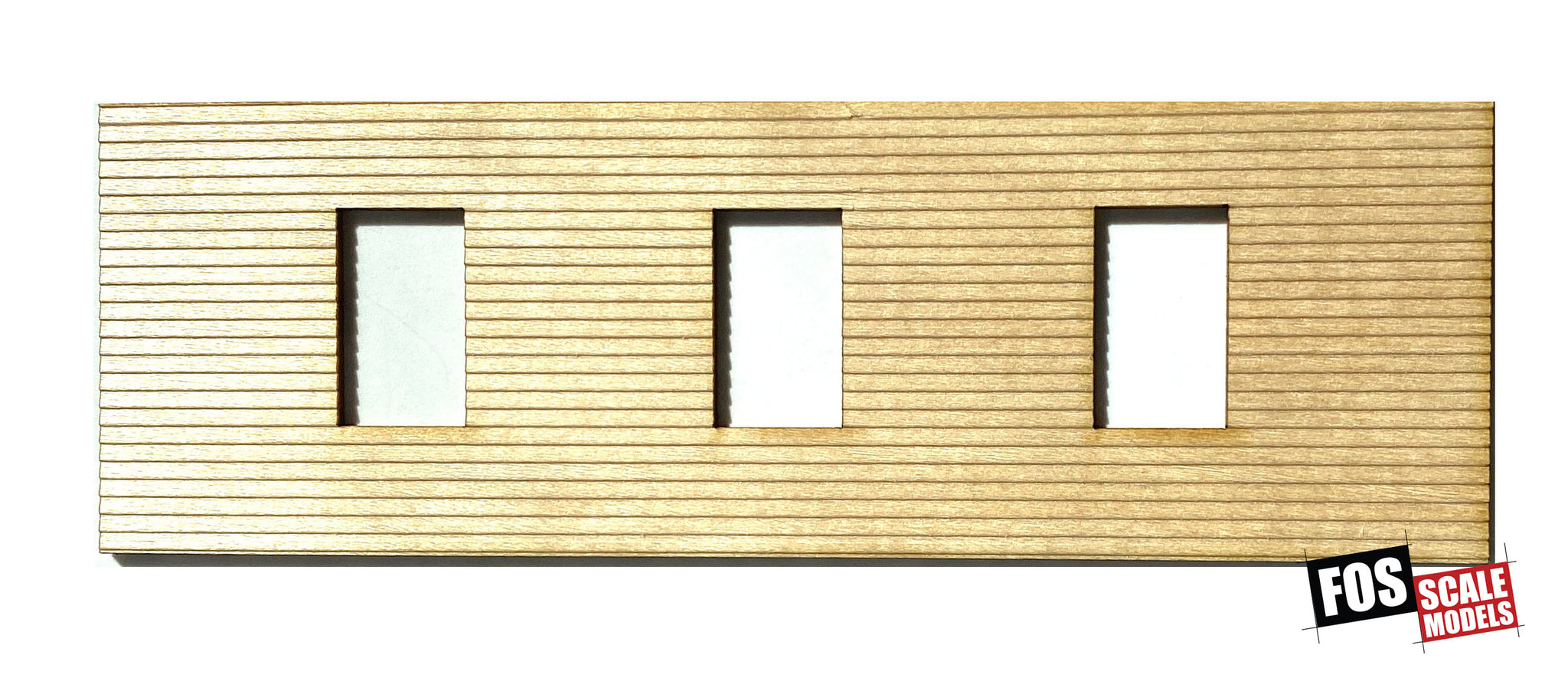 CLAPBOARD WALL SECTION - D105 HO SCALE