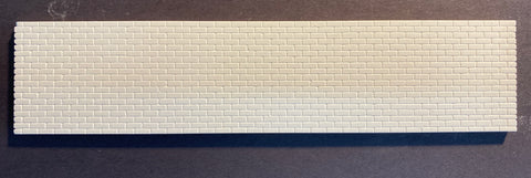 Concrete Block Wall; Long - HO Scale