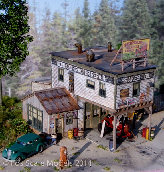 Bernard Tractor Supply - HO Scale Kit