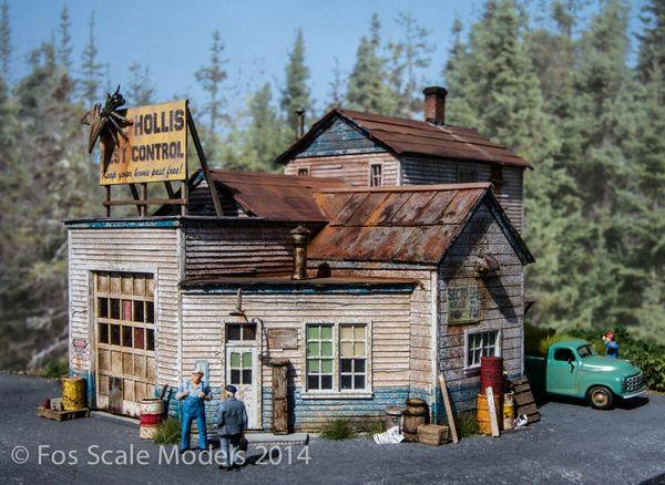Hollis Pest Control - HO Scale Kit