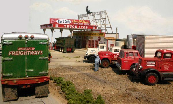 Mud Flap Cafe & Truckstop - HO Scale Kit