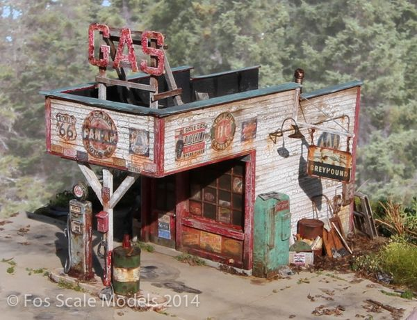 The Gas Station- O Scale Kit
