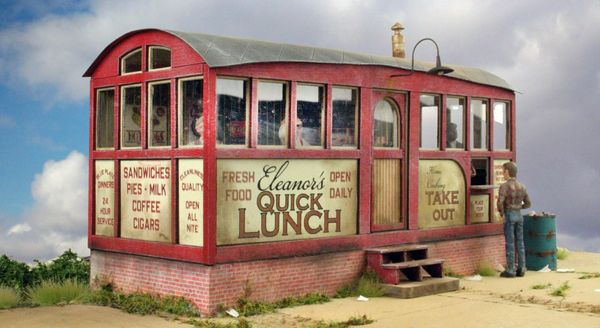 Quick Lunch Diner - O Scale Kit