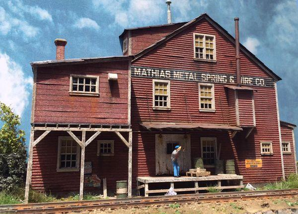 Mathias Spring & Wire Co.  - HO Scale Background Kit