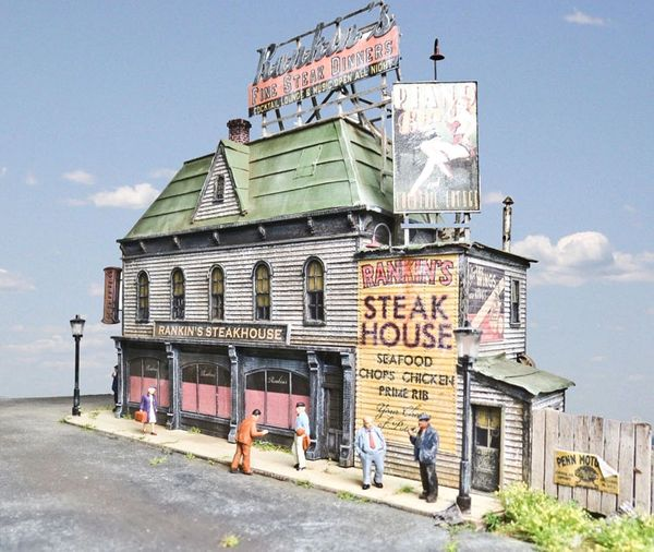 Rankin's Steakhouse - HO Scale Background Kit