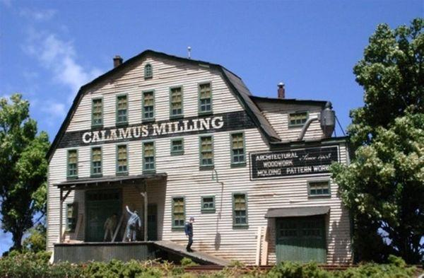 Calamus Milling  - HO Scale Background Kit