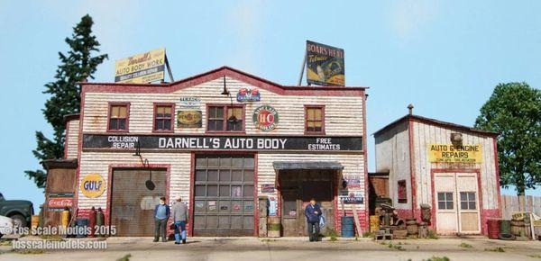 Darnell's Auto Body - HO Scale Kit