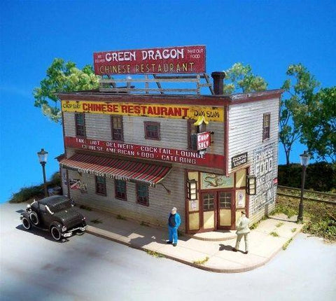 Green Dragon Chinese Restaurant  - HO Scale Kit