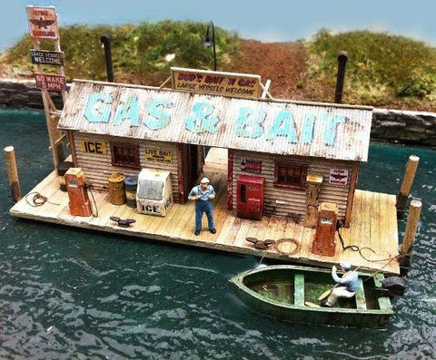 Bud's Gas & Bait - HO Scale Kit
