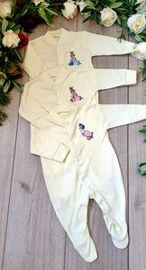 lemon beatrix potter jemima puddleduck peter rabbit flopsy bunny babygrows beatrix potter collection