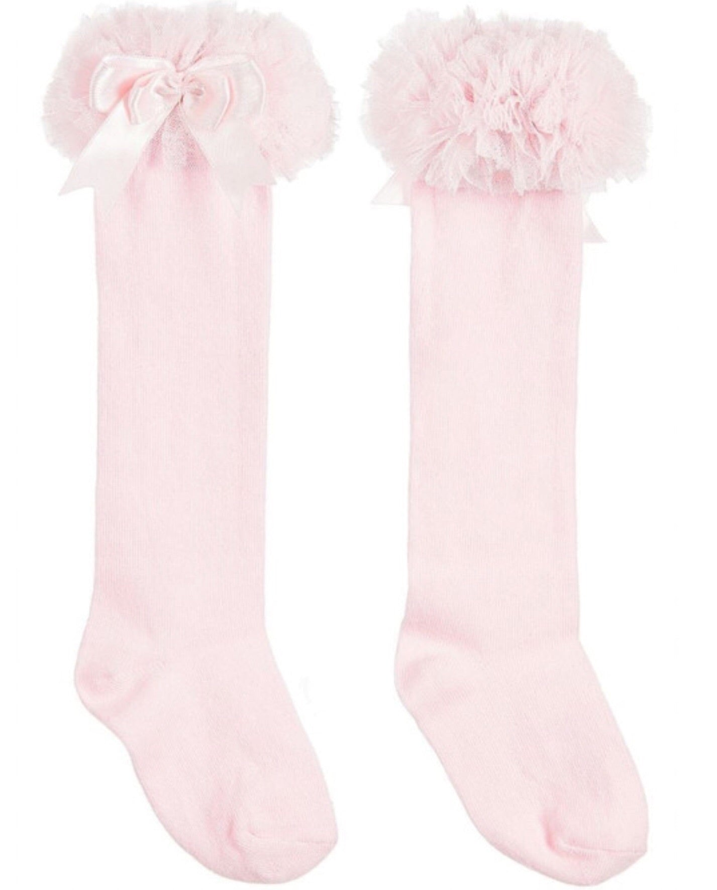 couche tot beau kid tutu pink bow knee socks gillytots