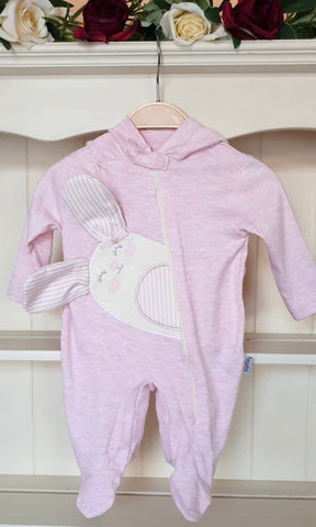baby girls babygrow all in one hooded all in one outfit pink