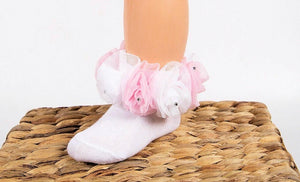 beau kid rose bud diemante tutu socks gillytots childrens boutique