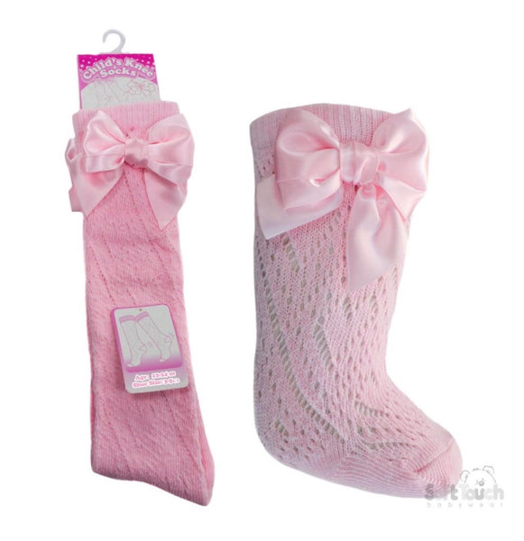 soft Touch pelerine knee lenght socks with bow