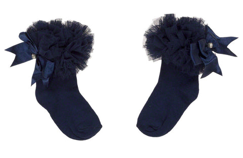 Couche Tot Ankle Navy Tutu Socks