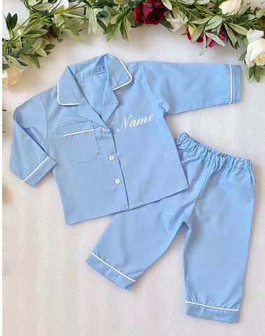 Boys Personalised Pyjamas - Blue