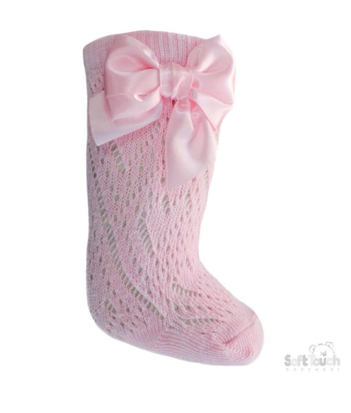 Infants Pelerine Knee Length Socks - Pink