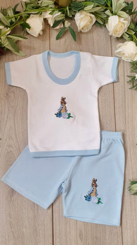peter rabbit baby boys top and shorts set summer beatrix potter baby wear