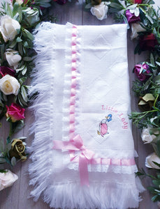 jemima puddleduck little lady newborn baby girls shawl blanket gillytots childrens boutique