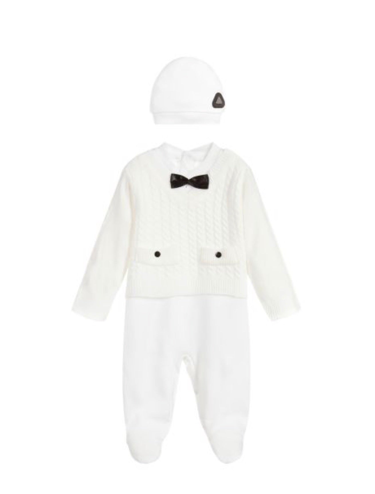 Caramelo Kids Baby Knitted All in One Outfit - Cream