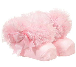 pink tutu couche tot couchetot frilly frill bow girls baby socks beau kid mintini