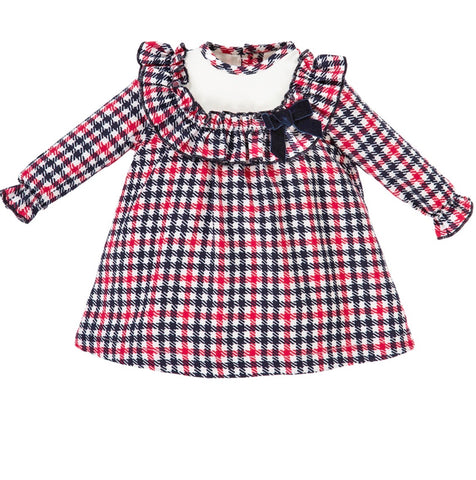 alber baby gifls check tartan dress baby wear alber baby clothes