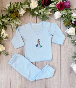 peter rabbit soft stretch jersey pjyarma pjs loungewear set blue beatrix potter night wear baby boys clothes gillytots