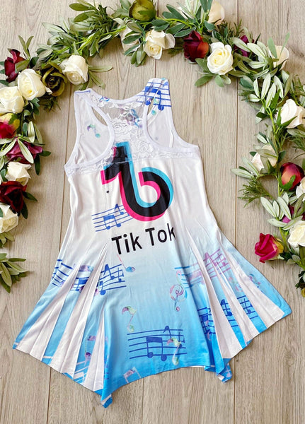 Girls TikTok Dress - Blue